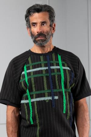 pinstripe men's top