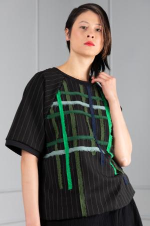 pinstripe women's top