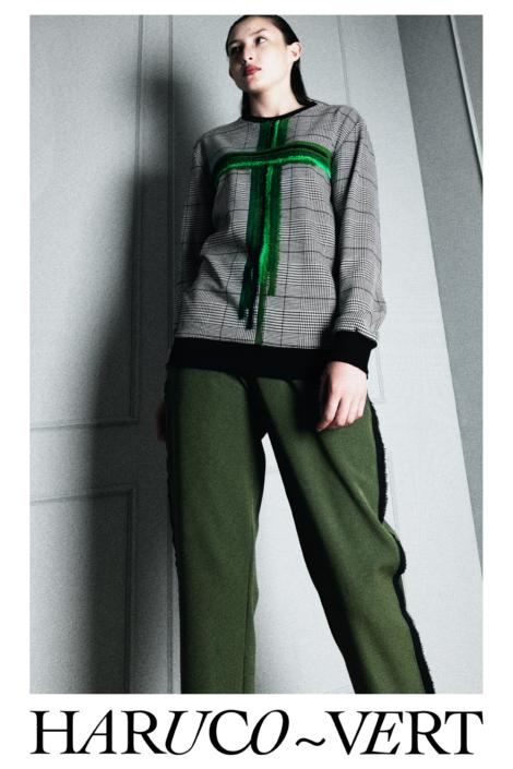 Designer Fashion houndstooth sweater