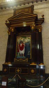 Seitenkapelle mit dem Stadtpatron San Cristóbal
