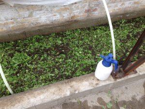 Fladkompostering sprøjtes med ferment