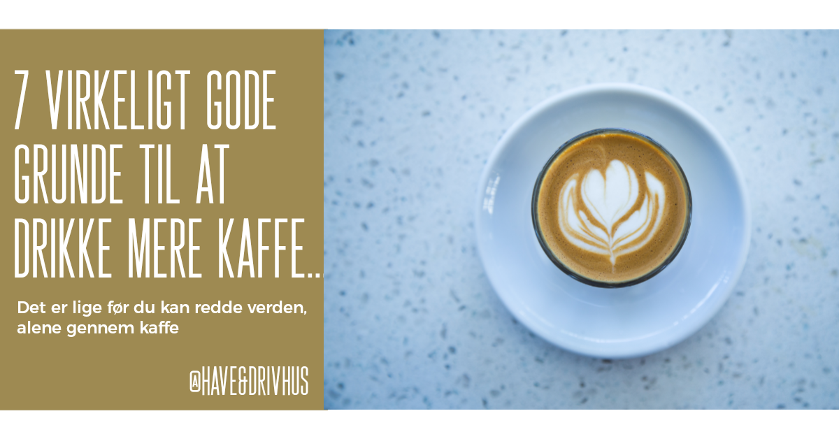 Kaffegrums i haven