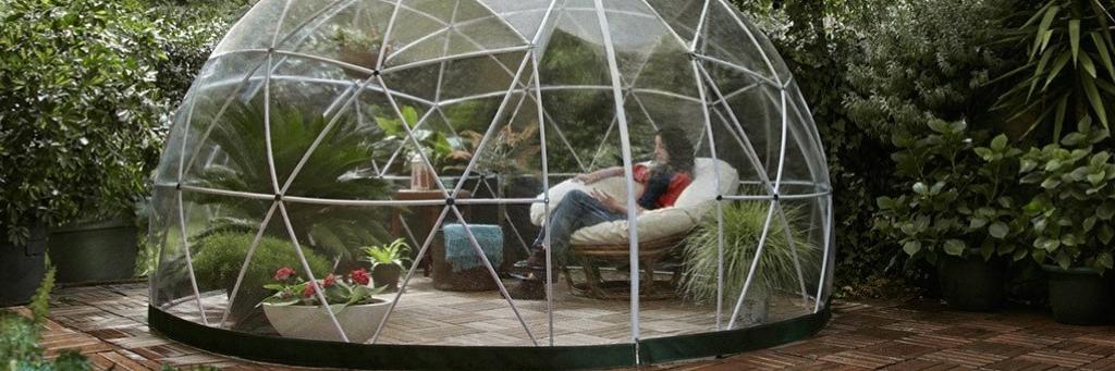 garden igloo - kuppel drivhus - se det på haveogdrivhus.dk