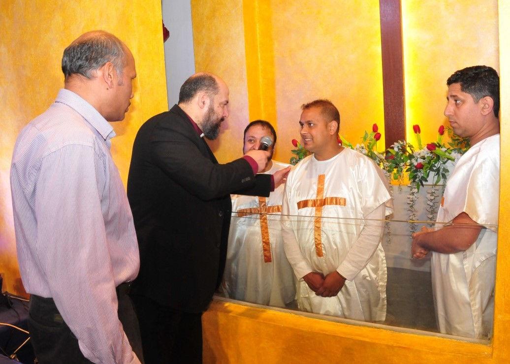 Pastor Said baptising