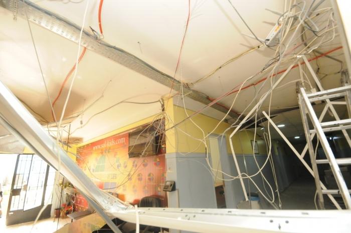 Life Center explosion damage