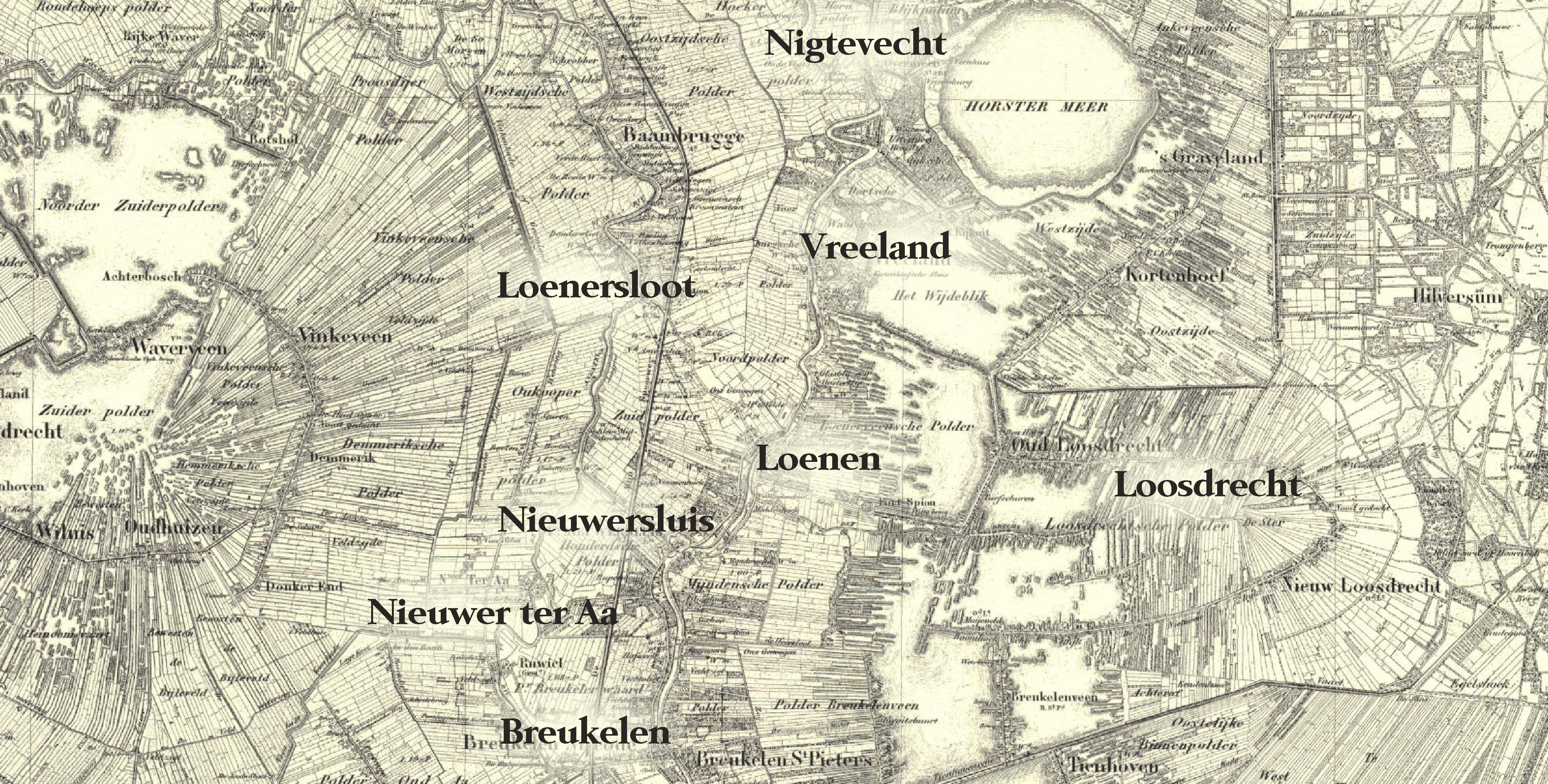 Oude kaart Vechtstreken