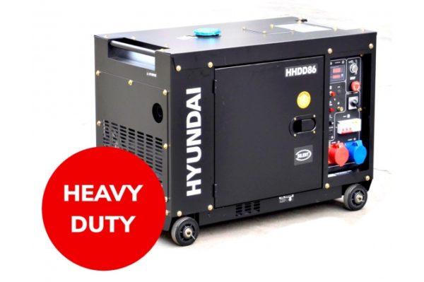 Hyundai HHDD86 Heavy Duty Diesel Generator 7.9KVA