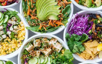 3x SNELLE LUNCH SALADES
