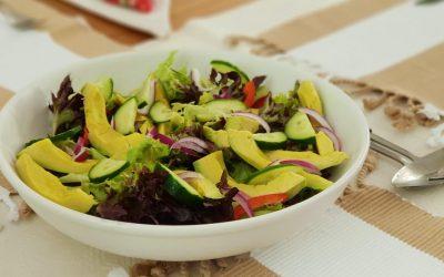 Caribische salade met gamba's