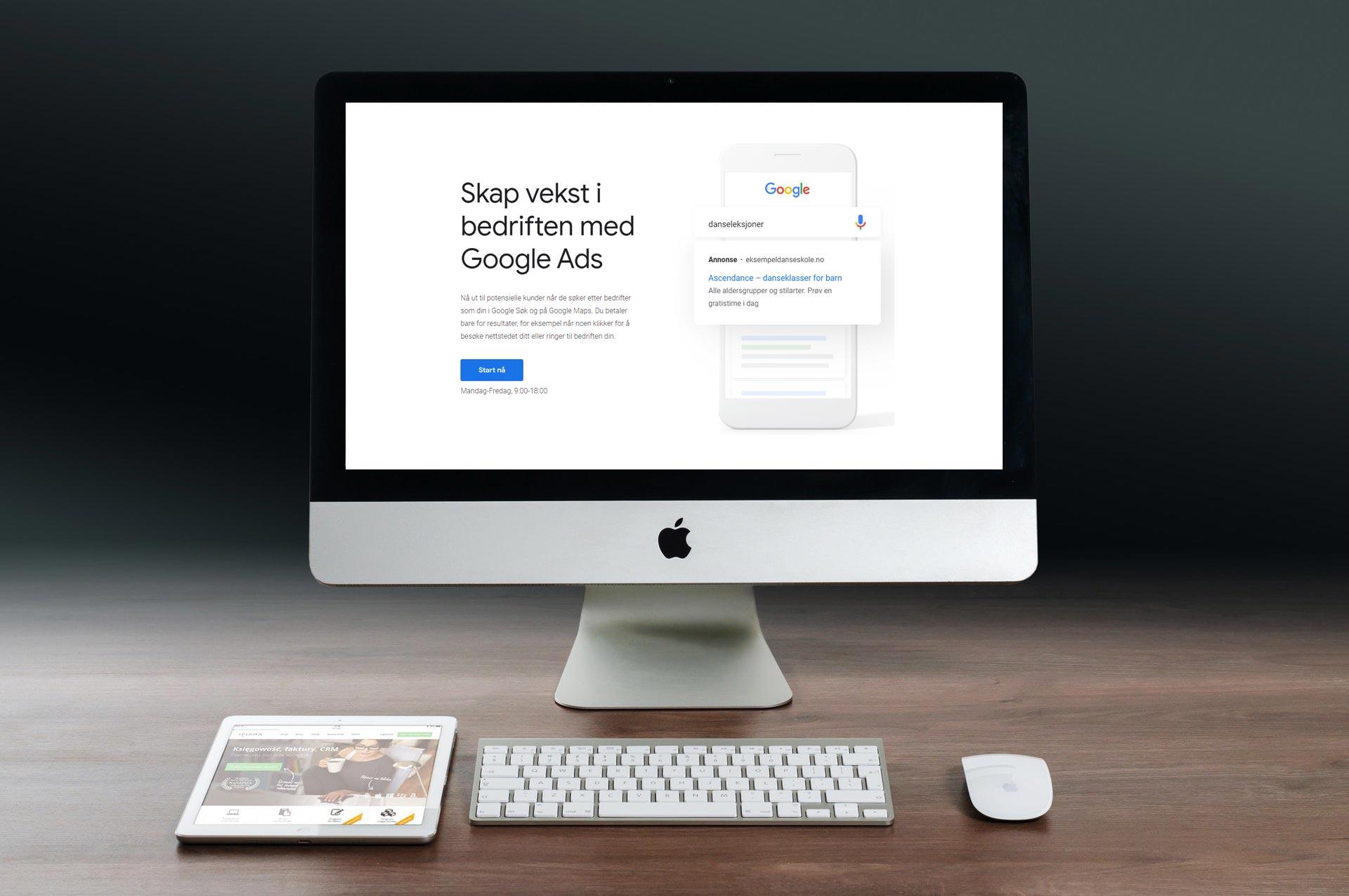 Bli synlig på Google med annonser på Google Ads