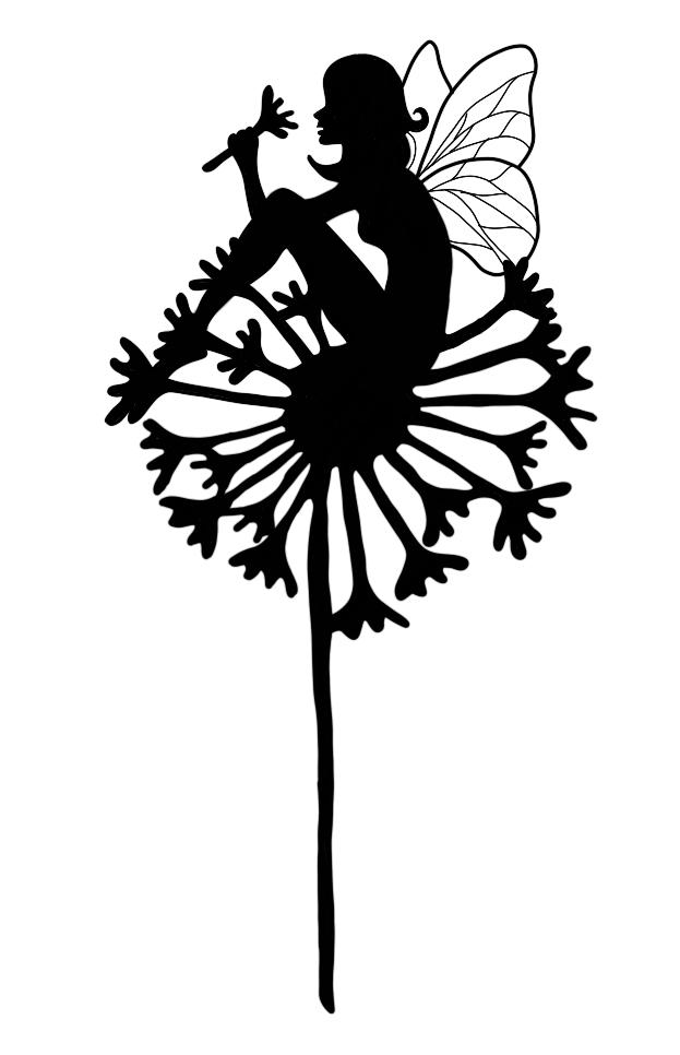 elf in a flower