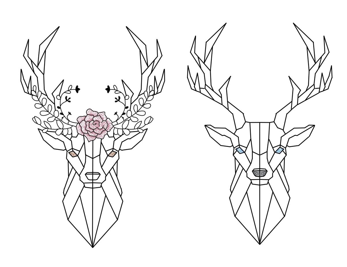 Deer couple tattoo