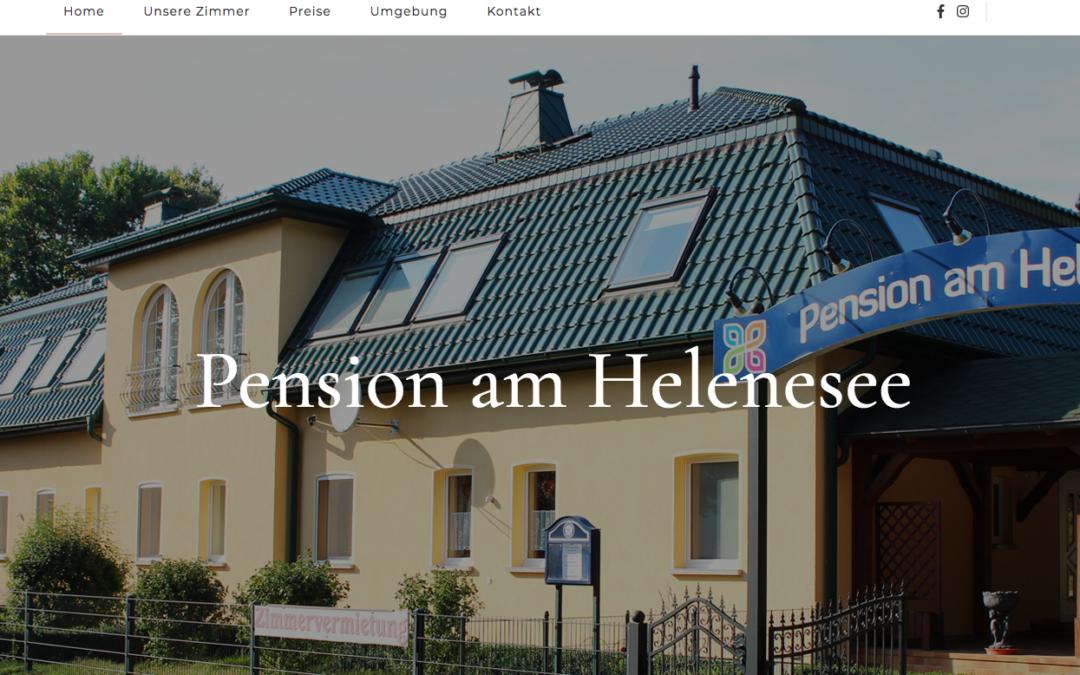Pension am Helenesee geht online