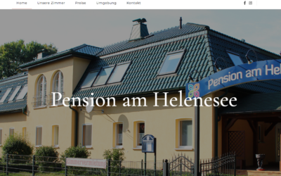 Pension am Helenesee geht online