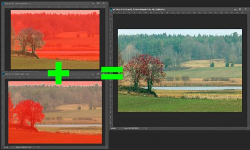 Focus stacking, landscape example