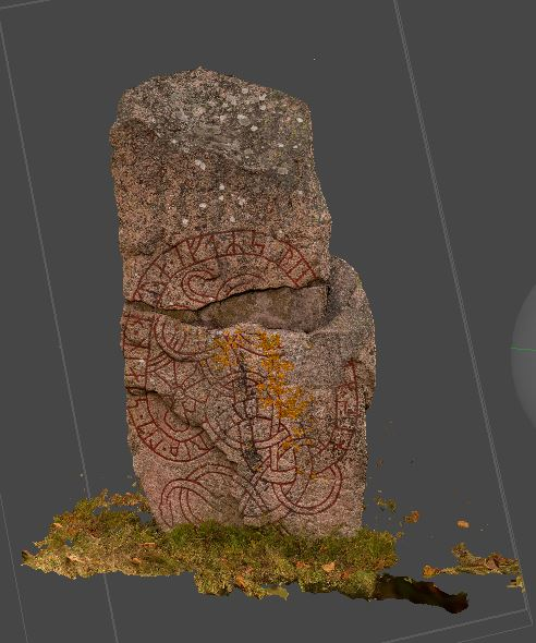 3D model of a runic stone
