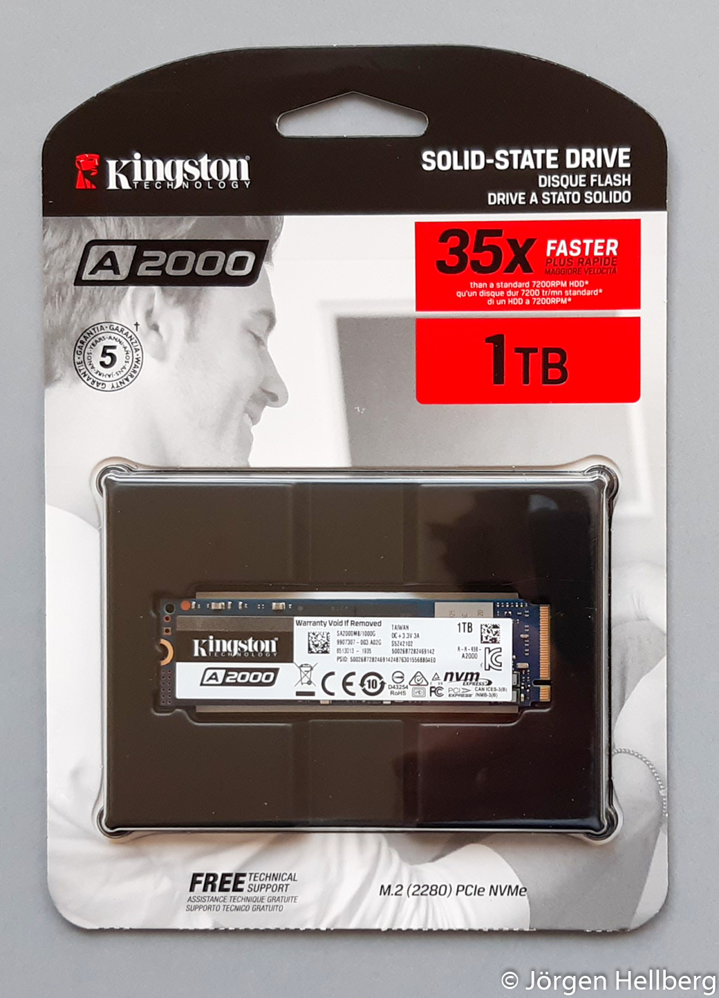 1 TB Kingston's A2000 NVMe PCIe SSD