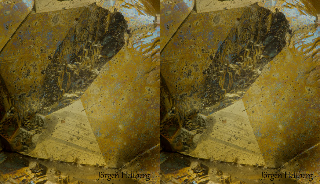Cross eyed stereo of Pyrite,