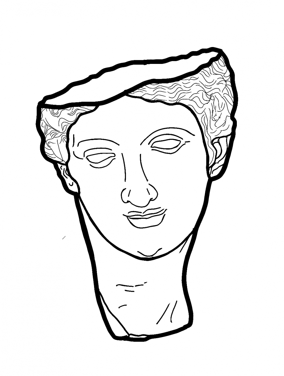Fragmentary head of Aphrodite in the Glyptoteket in Munich