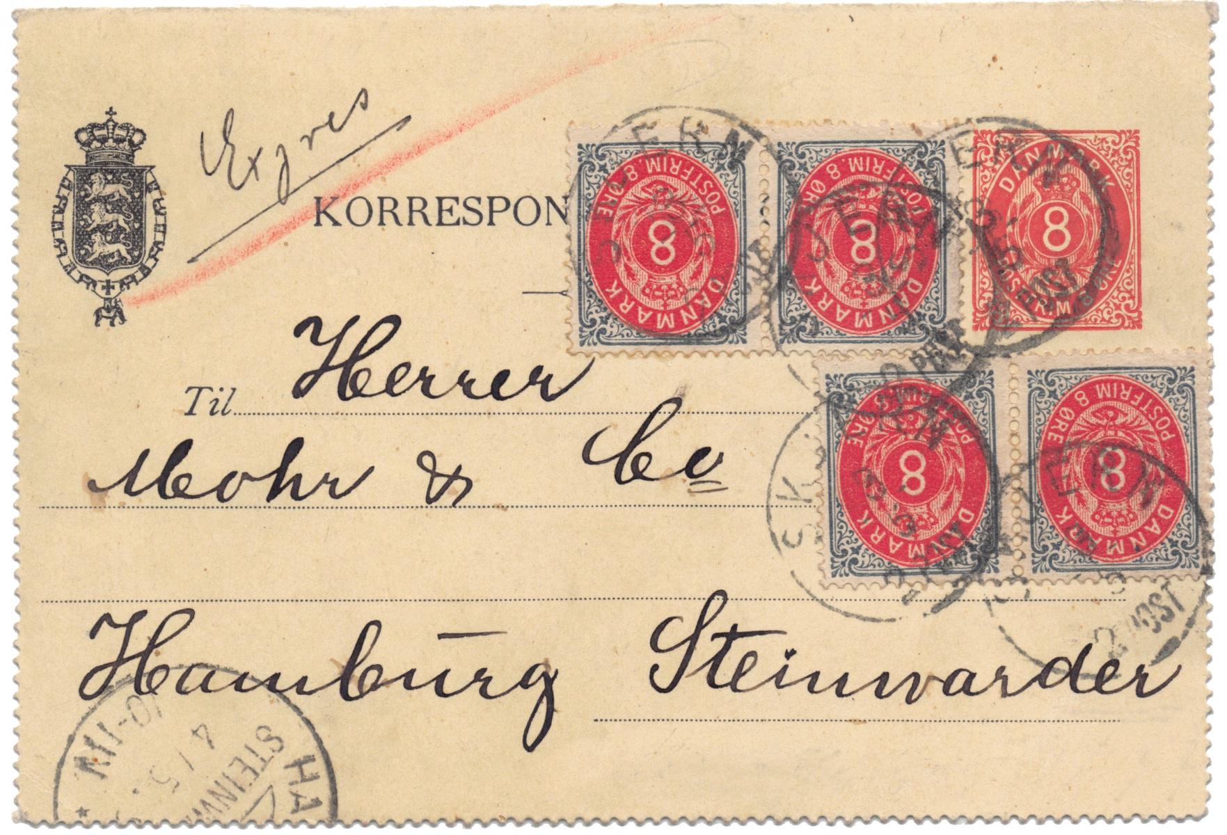 KK02-udenkant-opf-4x8oetr60-1892-LAP-Skjern-ANV-ekspres-roedkridt-udland-DEST-Tyskland-B001-OPT
