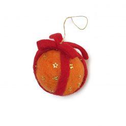 Appelsin med bånd i filt