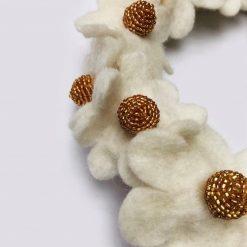 Blomsterkrans hvid