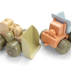 Bulldozer og lastbil