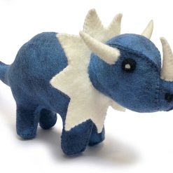 Sej dinosaur i blå