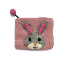 Pung fra Gamcha med kanin på lyserød baggrund