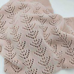 Rosa babytæppe i bomuld