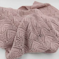 Rose babytæppe i bomuld fra Nørgaard Madsen