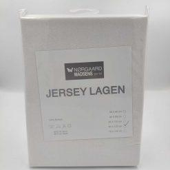 hvidt jersey lagen 60x120 cm