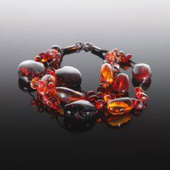 Ravarmbånd med flade perler