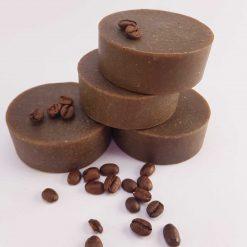 Sæbebar med kakao og kaffe