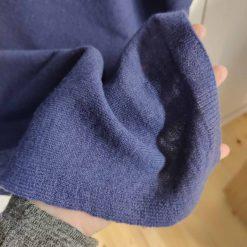 Syrenblå poncho i merino og cashmere