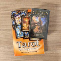 Sæt med arbejdsbog til tarot for begyndere og tarotkort