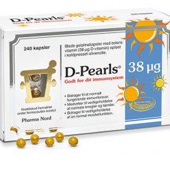D-pearls fra Pharma Nord 38 µg 240 stk.