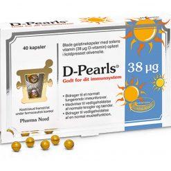 D-pearls fra Pharma Nord 38 µg 40 stk.