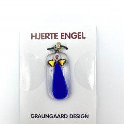 Hjerteengel Vedhæng blå agat