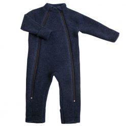 Jumpsuit fra Joha i ren merinould mørkeblå