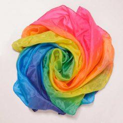 Playsilk regnbue fra Sarahs Silks