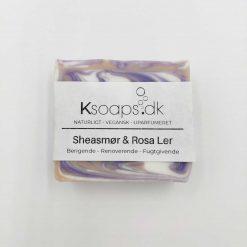 Sæbebar med sheasmør og rosa ler fra Ksoaps