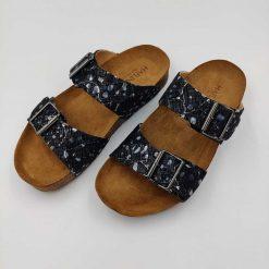 Bio andrea sandaler sort mønster
