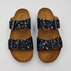 Bio andrea sandaler i sort/mønster fra Haflinger