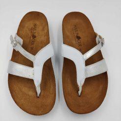 Bio clara sandaler i sølv fra Haflinger