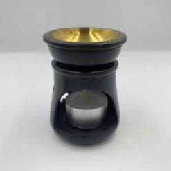 Lille duftlampe med hjerter sort