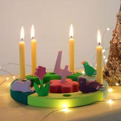 lille fødselsdagsring i grøn & turkis