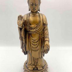 Stående Buddha i bronze
