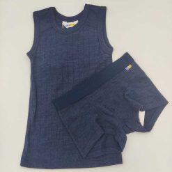 Joha undertrøje i uld/silke mørkeblå sæt