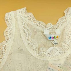 Joha undertrøje i uld/silke hvid med blonder